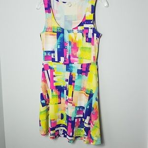 Multi Color Skater Dress - Nicki Minaj - Size: M
